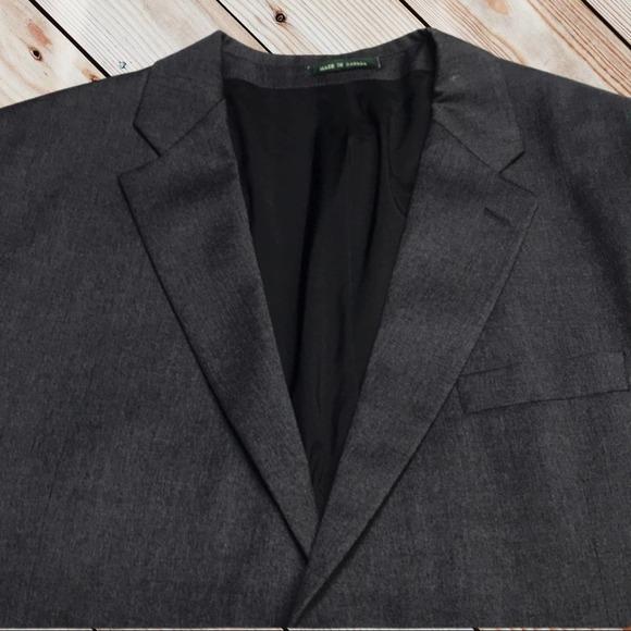 RALPH LAUREN Mens 46L Gray Wool Blazer Sport Coat